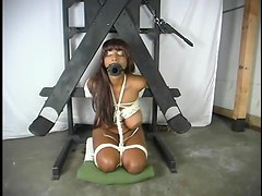 Africa the hot ebony girl gets tortured in BDSM video
