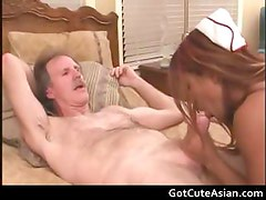 Asian nurse getting her tight pussy part1