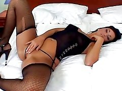 Juicy Buttfucked Babe In Stockings