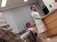 Hot japanese nympho Anna Noma rides dick of her patient.