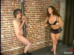 Jamie Gillis gets whipped and humiliated by Kym Wilde in BDSM clip