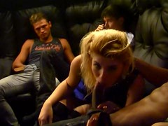 Malika throws up a crazy russian group sex party