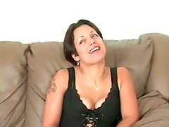 Fingering Masturbation for Orgasm by Short-Haired MILF
