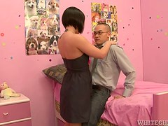 Brunette Slut With Short Hair Dominates Small Asian Cock For Pleasure