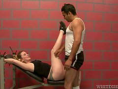 Gym Sex Workout Leads to Blowjobs and Cumshots A Plenty