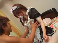 Japanese Maid Gets Her Pussy Fucked and Toyed by Her Boss