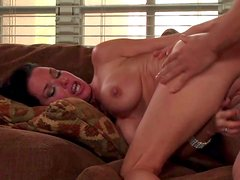 Black haired lusty milf Veronica Avluv with provocative heavy make