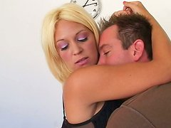 Buxom blonde MILF Charlee Chase gives a head to Will Powers