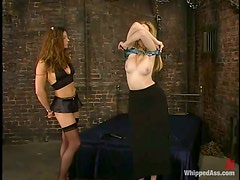 Kym Wilde Toying Blonde Chick in Lesbian Femdom Video
