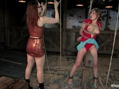 Kinky blonde Roma enjoys being whipped and humiliated