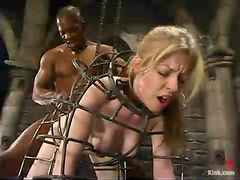 Sexy Haley Scott gets bounded by Black guy and fucked