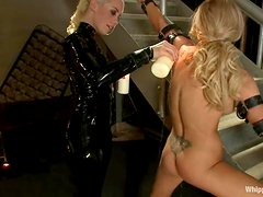 Lorelei Lee tortures Samantha Sin before fucking her with a strapon