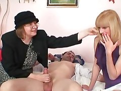 Blonde shares Cock with old Bag