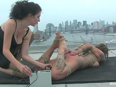 Betty Baphomet gets tied up and tortured on a roof