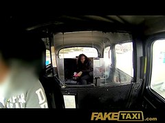 Naughty chick with pig nipples gets ass fucked in a taxi