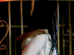 Sexy brunette Simony Diamond gets double penetrated in a jail