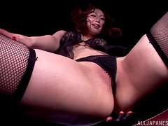 Asian milf will make you crazy with this fascinating solo.