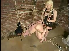 Luscious babe Shade Paine gets tortured by a gorgeous blond mistress