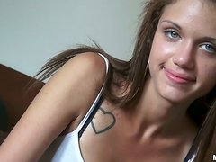 Cute Cyrus Blow fucks and then swallows cum in POV video