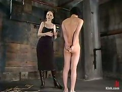 Asian Guy Gets Tied Up in Femdom Torture BDSM Video