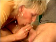 Cum In Mouth Is What This Mature Blonde Adores To Feel