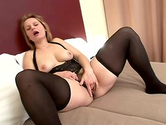 Black Dude With Big Dick Fucked Hard Some Mature Broad In Stockings