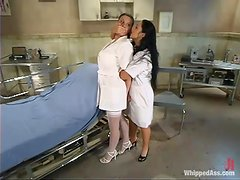 Gorgeous nurses are going to go hard for lesbian