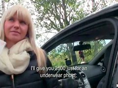 Blonde Slut With Big Boobs Is Ready For Nasty Car Fucking