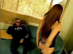 Interracial Fucking With Old School Dude And Busty Asian Hooker