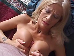Perfectly hot blond milf is acting in a hot POV