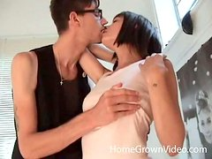 Amateur Kimberly gets fucked in her hairy pussy