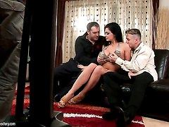 Aletta Ocean with gigantic knockers strips down to