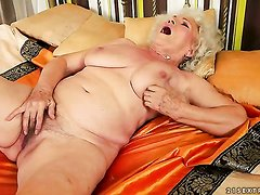 Unbelievably hot stunner Norma with big melons has fire
