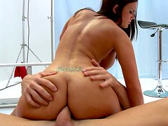 Bootyful darkhead bitch Mackenzee Pierce gets drilled hard from behind deep in her ass