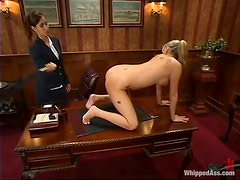 Nice Codi Milo gets tied up and toyed by her female boss