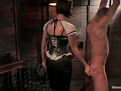 Mickey Mod gets tortured with hot wax and toys by a mistress