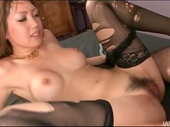 Creampie cumshot inside slutty Yuki Mi