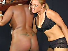 Kinky black BBW slut gets tortured by female dominatrix