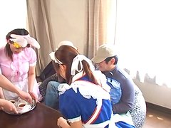 Japanese Babe in Maid Uniform Gets Fucked Hard Doggy and Missionary
