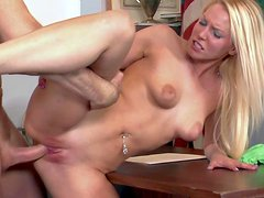 Vanessa Cage is a sweet fair haired student girl that
