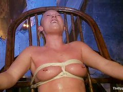 A few nerdy girls get tormented and fucked in group BDSM vid