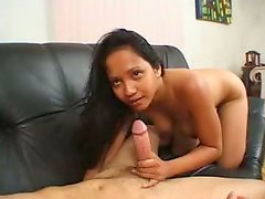 Lustful chick sucks meaty dick and rims ass hole  of one aroused guy