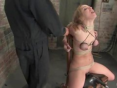 Kinky blondie Annette Schwarz is living through some abuse
