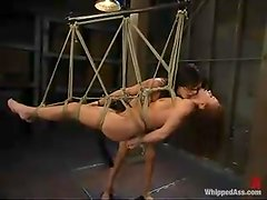 Tory Lane punishes nasty girl Holly Wellin in awesome BDSM scene