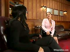 DragonLily punishes hot Victoria Sweet in an office