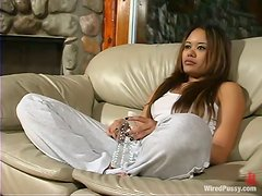 Annie Cruz gets tied up and toyed by two brunette girls