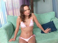 Amber Rayne gives head to Jon Jon and takes a ride on his BBC