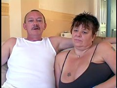 Mature couple are going back to good old times