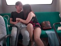 Blowjob on public bus from Japanese girl