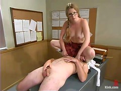 Princess Kali punishes her teacher Top James in a classroom